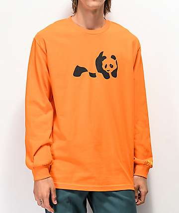 Enjoi Panda Orange Long Sleeve T-Shirt