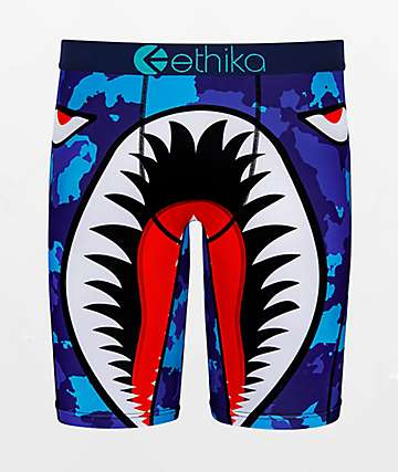 Ethika Boys War Plane Blue Boxer Briefs