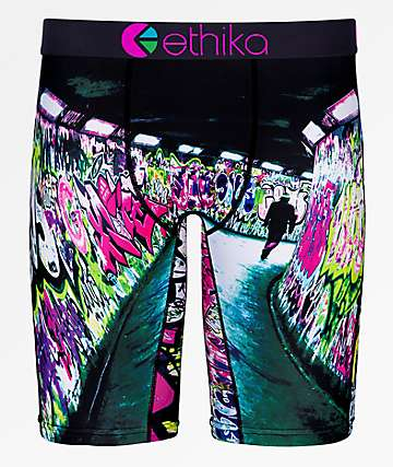 Ethika Graffiti Black Boxer Briefs