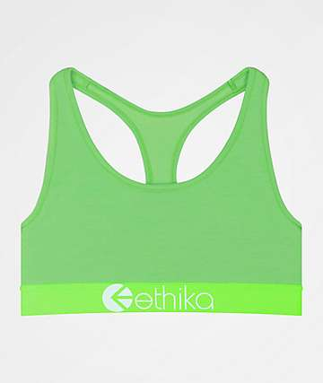 Ethika Green Glow Sports Bra