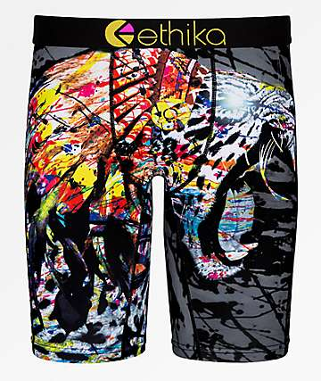 Ethika Native Jaguar Grey Boxer Briefs