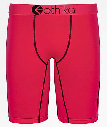 Ethika Red Roz Boxer Briefs