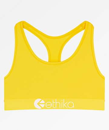 Ethika Retro Yellow Sports Bra
