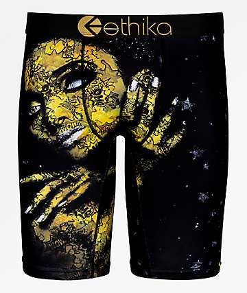 Ethika Stay Gold Black Boxer Briefs