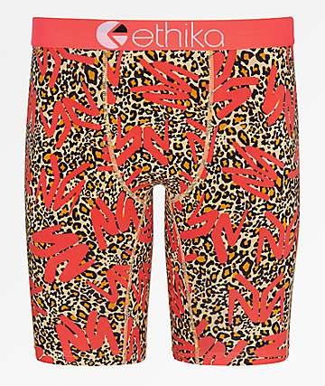 Ethika Young Money Leopard Boxer Briefs