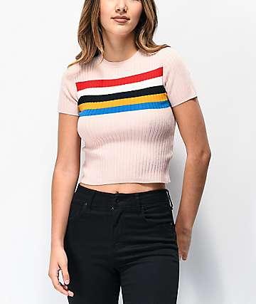 Ethos Roni Blush camiseta corta de punto