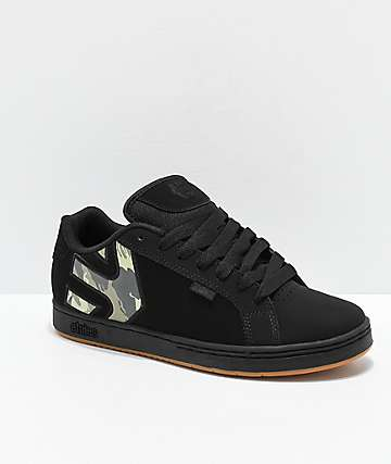 Etnies Fader Black, Olive & Gum Skate Shoes