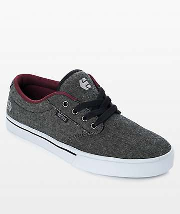 Etnies Jameson 2 Eco Black Denim Shoes