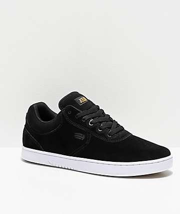 Etnies Joslin Black & White Skate Shoes