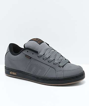 Etnies Kingpin zapatos de skate en gris, negro y oro