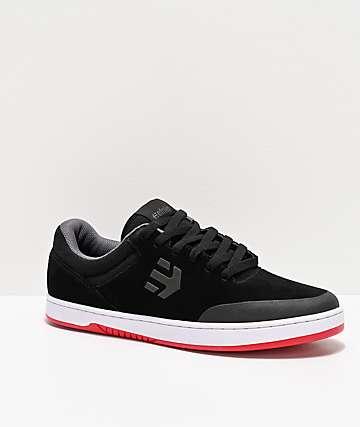 Etnies Marana Black, White & Red Skate Shoes