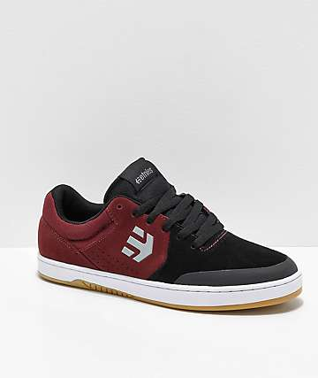 Etnies x Michelin Marana Black, Dark Grey & Red Skate Shoes