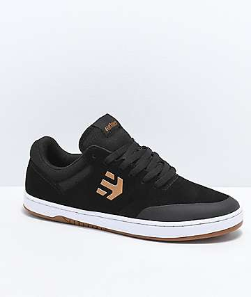 Etnies x Michelin Marana Black & Tan Skate Shoes