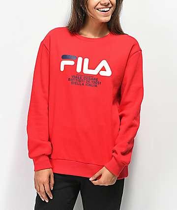 FILA Agnese Chinese Red Sweatshirt