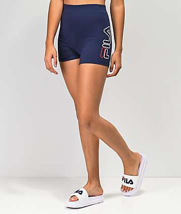 FILA Beatriz High Waist Navy Bike Shorts