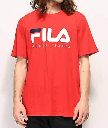 FILA Biella Italia camiseta roja