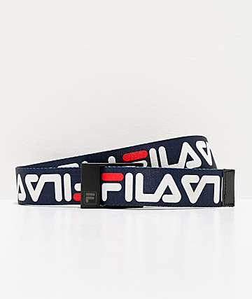 FILA Big Script Blue Web Belt