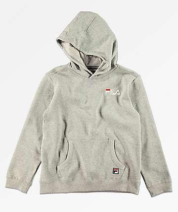 FILA Boys Classic Logo Grey Hoodie