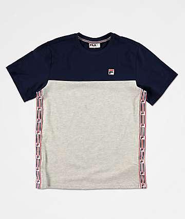 FILA Boys Luca Taped Grey T-Shirt