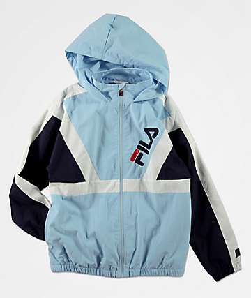 FILA Boys Santo Powder Blue Windbreaker Jacket
