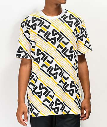 FILA Calvin White & Gold T-Shirt