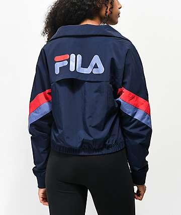 FILA Chiaki Navy Windbreaker Jacket