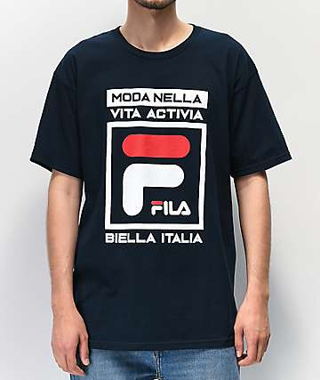 FILA Dal Navy, White & Red T-Shirt