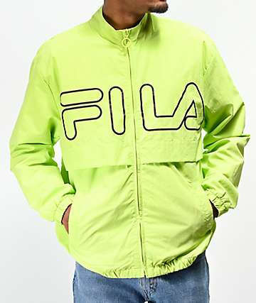 FILA Dani Bright Green Windbreaker Jacket