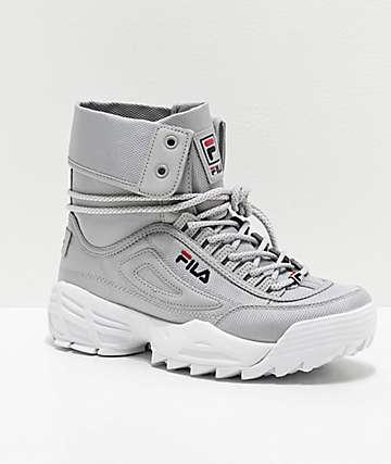 FILA Disruptor Ballistic Grey & White Boots