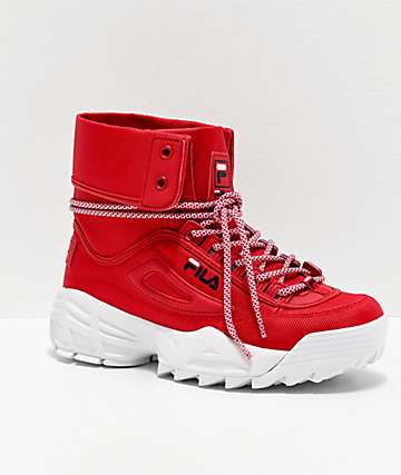FILA Disruptor Ballistic Red Boots