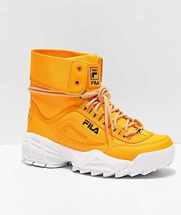 FILA Disruptor Ballistic Yellow Boots