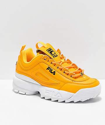 zapatillas fila amarillas hombre