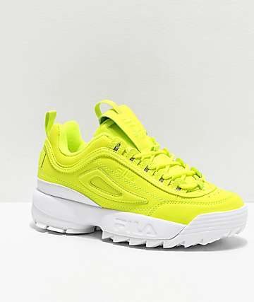 FILA Disruptor II Shift zapatos amarillos