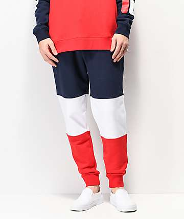 FILA France Navy, White & Red Sweatpants