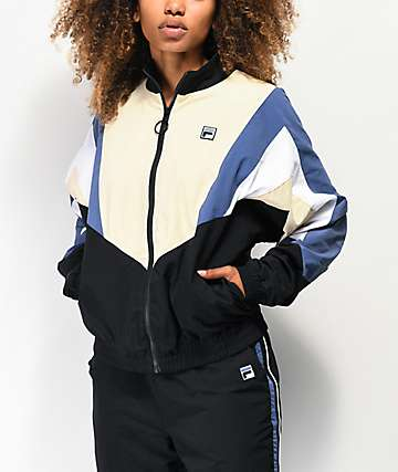 FILA Gisele Beige & Black Windbreaker Jacket