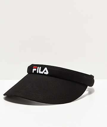 FILA Hard Shell Black Cotton Visor