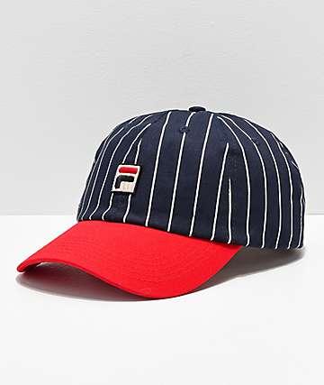 FILA Heritage Red & Navy Pinstripe Snapback Hat