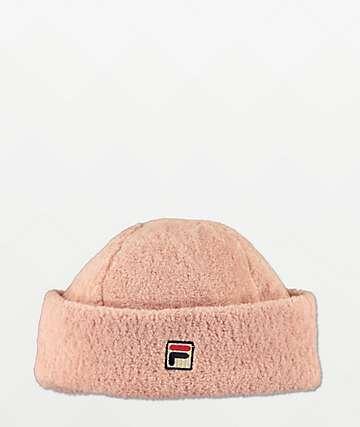FILA Heritage Yarn Pink Beanie