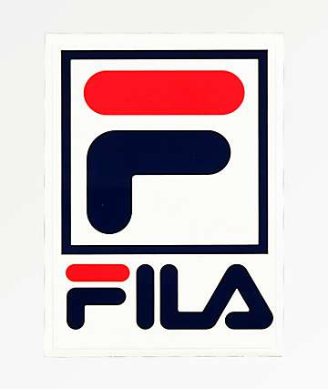 FILA Logo White Sticker