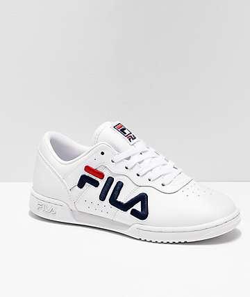 FILA Original Fitness White & Red Shoes