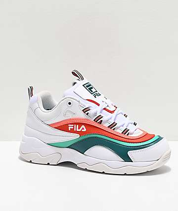 FILA Ray Miami White, Storm & Cherry Tomato zapatos