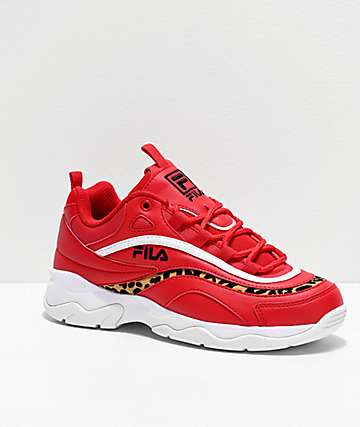 FILA Ray Red & Cheetah Shoes