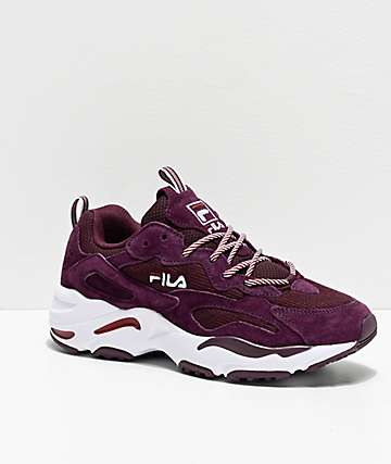 FILA Ray Tracer Maroon Shoes