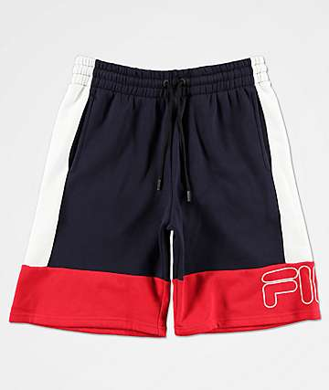 FILA Reiley Navy, Red & White Sweat Shorts