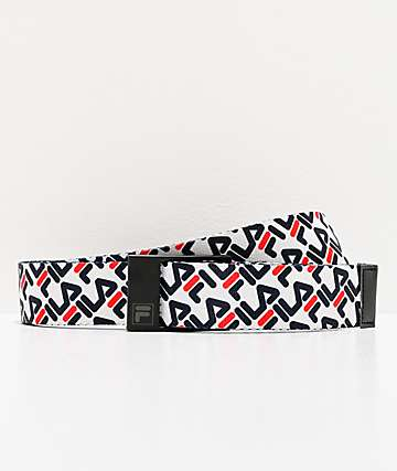 FILA Repeat White Web Belt