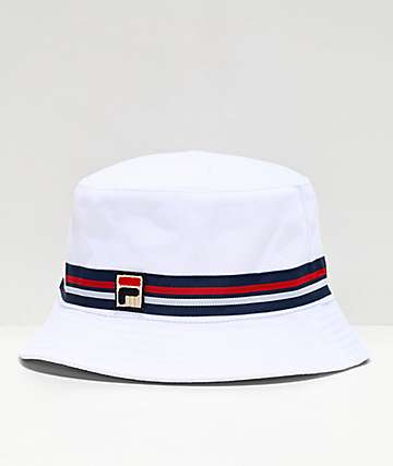 FILA Reversible White Bucket Hat