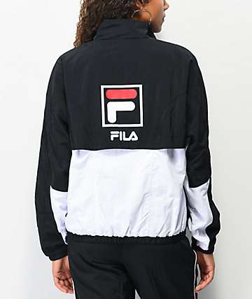 FILA Rupta Black & White Windbreaker Jacket