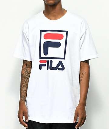 FILA Stacked White T-Shirt