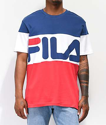 FILA Vialli Navy, White & Red T-Shirt