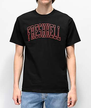 FRESHHELL Dropout Black T-Shirt